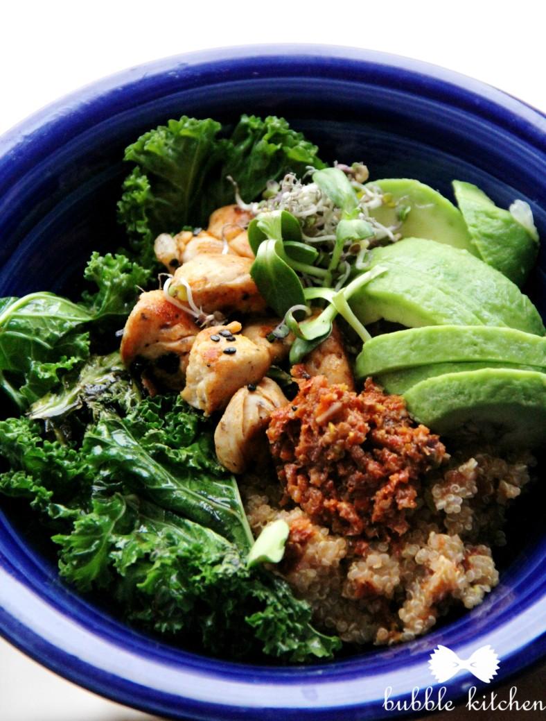 chicken-kale-bowl